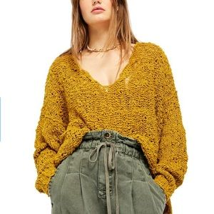 FREE PEOPLE NWT Sunday Shore Pullover Sweater